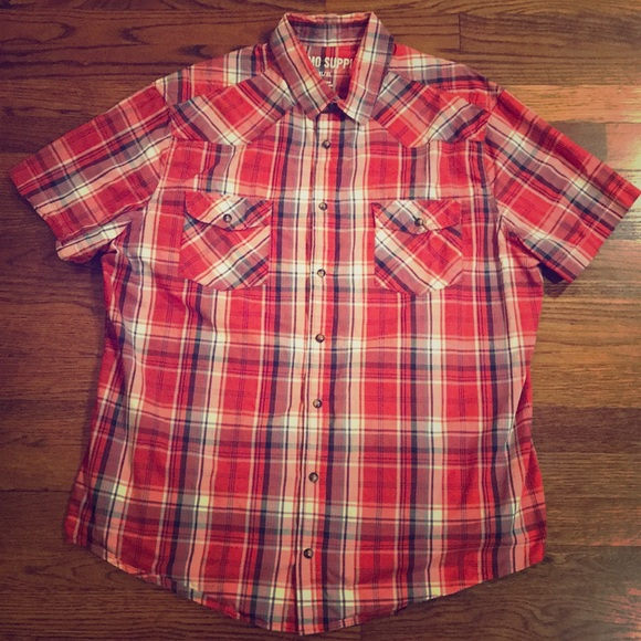 Mossimo Supply Co Shirts Mossimo Supply Co Xl Red Striped Pearl